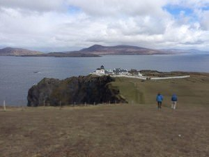 Exploring Clare Island on foot
