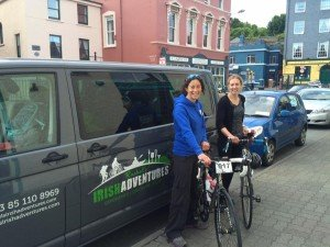 Myself and Linda after registration in Kinsale (The calm before the storm!)