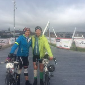 My buddy Linda and I with our bikes