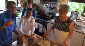 Baking experience in Marjories kitchen