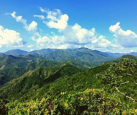 The mountains of Guantanamo province
