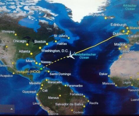 Flight from the UK to Cuba