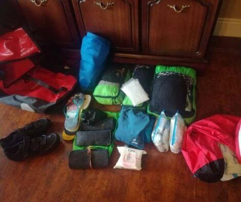 Items of our packing list for bike packing in Cuba