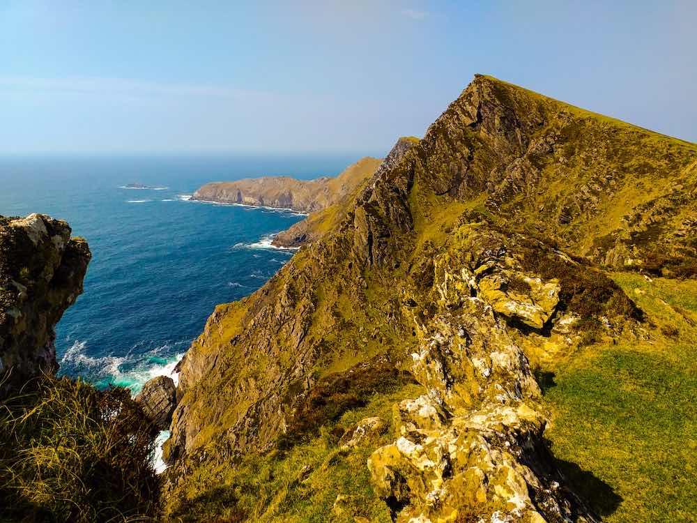 Ireland's highest sea cliffs on Achill Island, Mayo, Ireland
