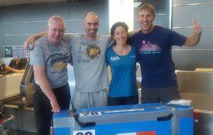 Team Ireland AR at Dublin airport checking in the bikes