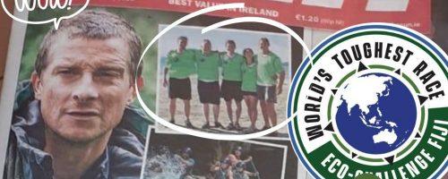 Rachel Nolan with Team Ireland AR on the front page of the Irish Sun