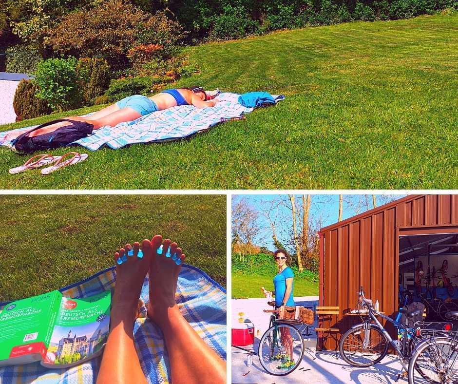 A sunny spot behind Brigown B&B, home base of Rachel's Irish Adventures and Bikes2Rent