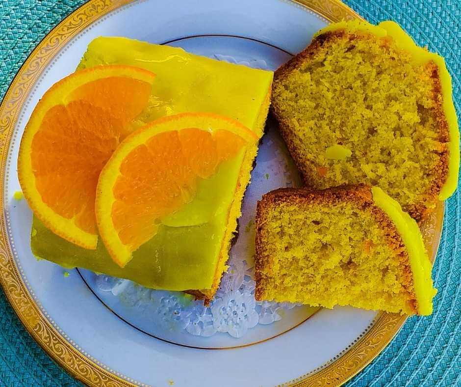 A lemon drizzle cake from Marjorie's kitchen