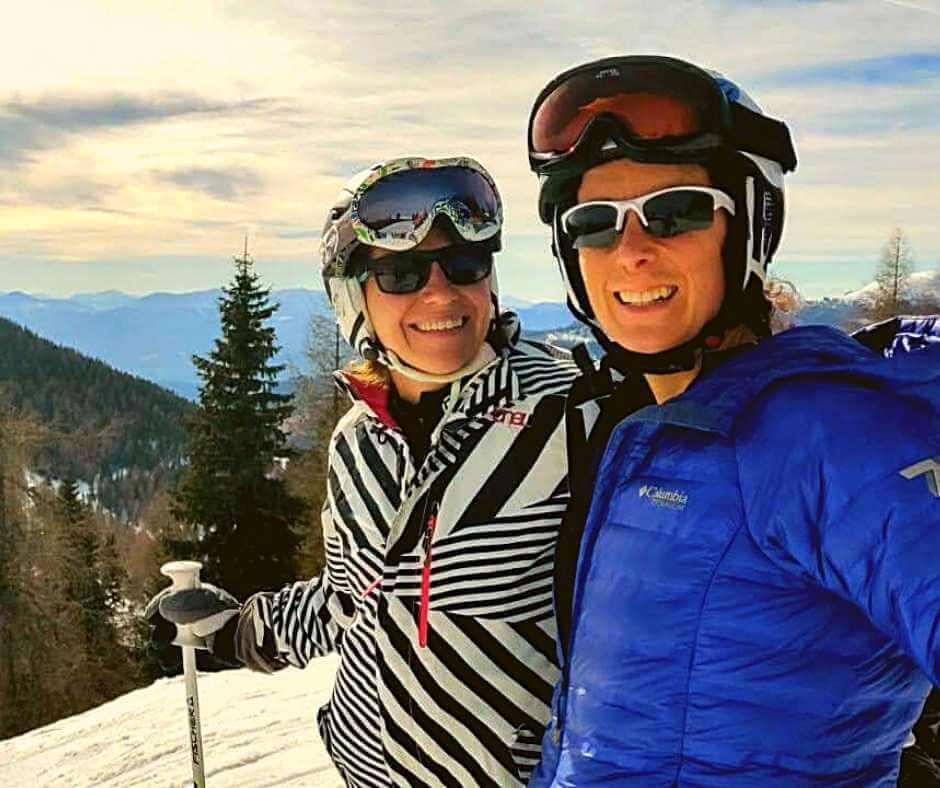 Rachel and Iszy on the Austrian slopes