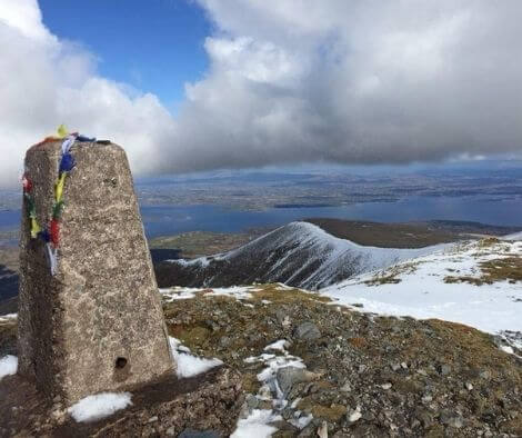 The top of Nephin Mountain - top 10 trail routes hiking and trail running in Ireland