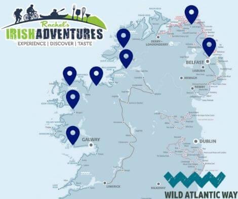 Map of the perfect Ireland itinerary - Irish History tour