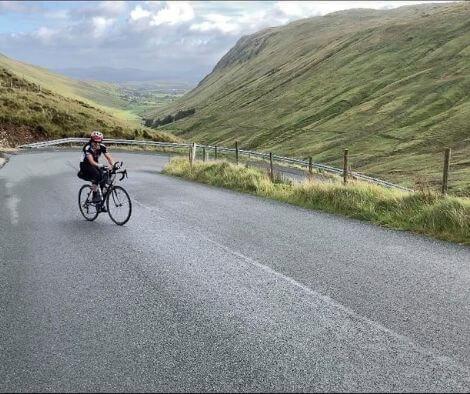 Rachel Nolan on bike first female to win TransAtlanticWay